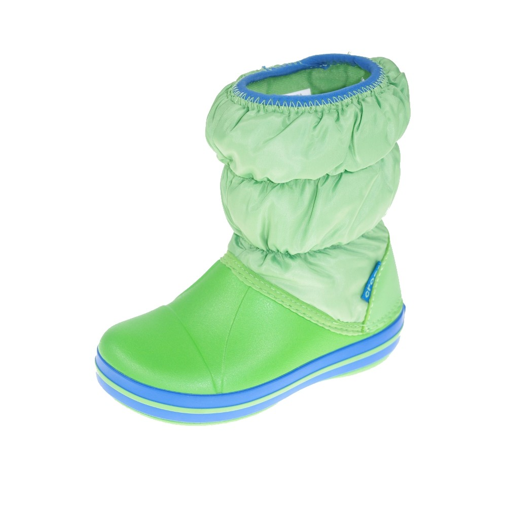 crocs kinderschuhe stiefel winter puff boot kids lime. Black Bedroom Furniture Sets. Home Design Ideas